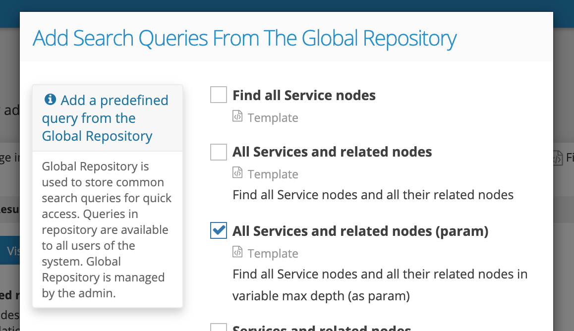 Graphlytic: Query Template with parms Find_all_Service_nodes_and_all_related_nodes