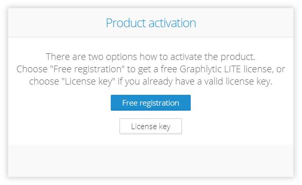 Graphlytic LITE Server activation - activation options