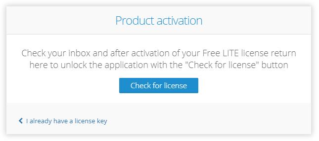 Graphlytic LITE Server activation - application activation